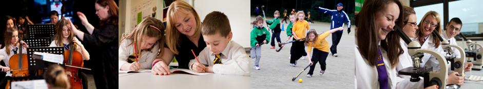 4 Schools and Learning photos - music, hockey, writing and science