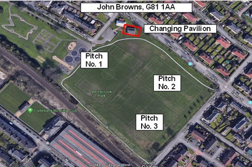 Map of Football Pitch Location