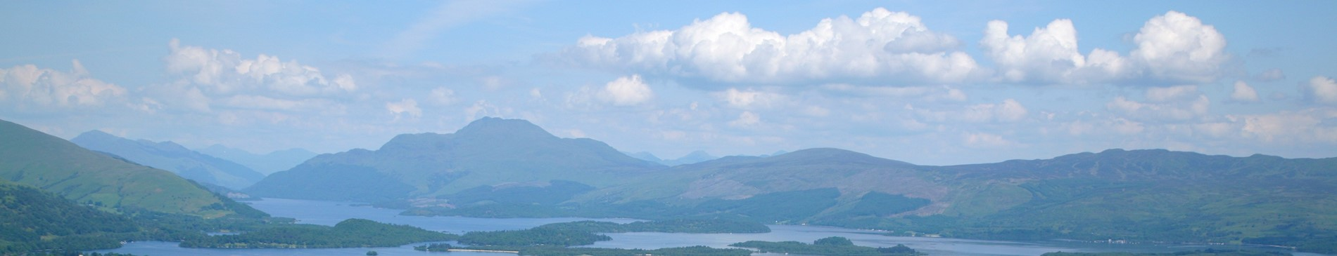 Views of Loch Lomond and the hills in the back ground