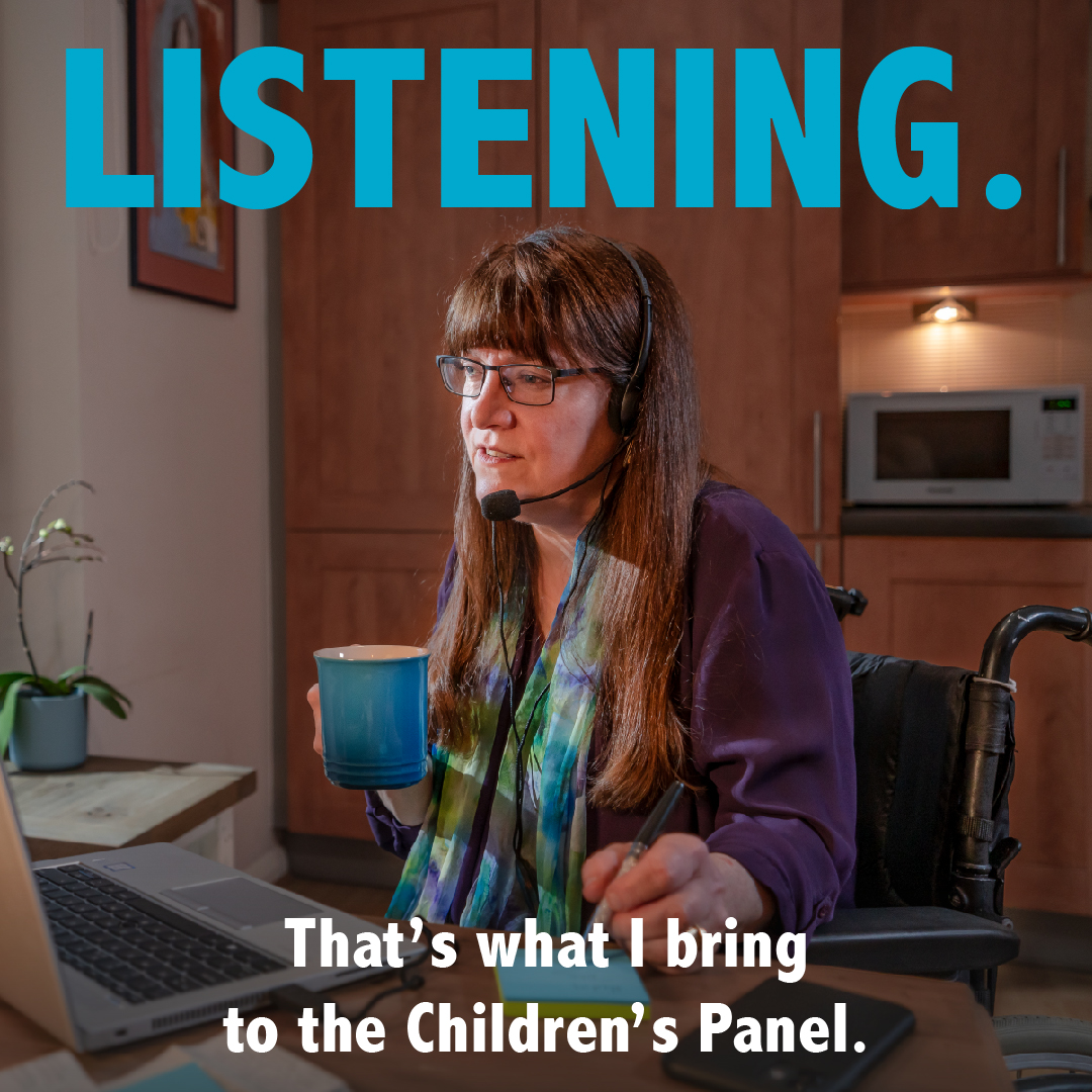 A member of the Children's Hearing - Listening - That's what I bring to the Children's Panel