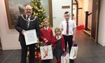 A picture of the winners of the 2017 Provost's Christmas Card Competition