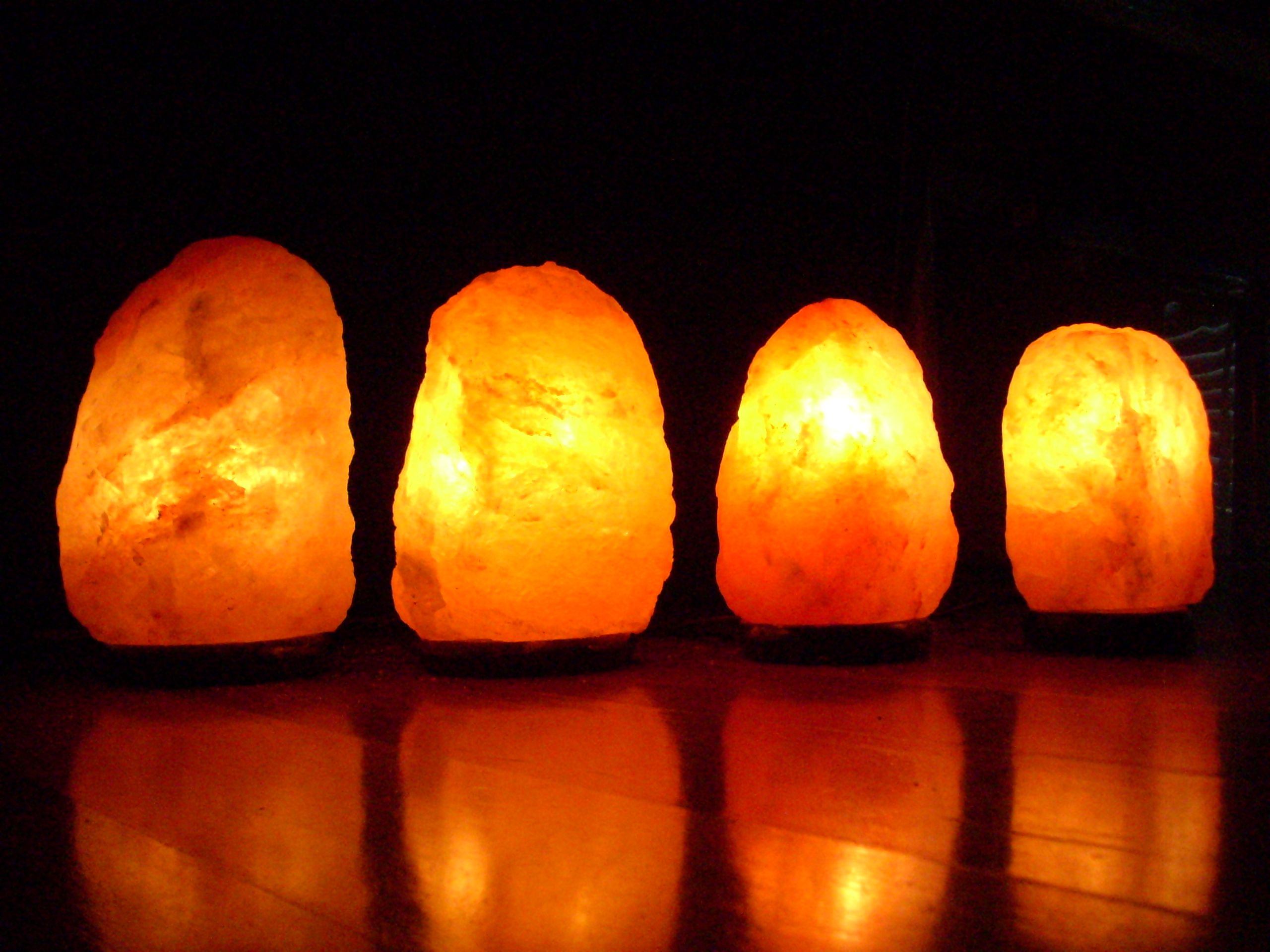 4 Himalayan Salt Lamps