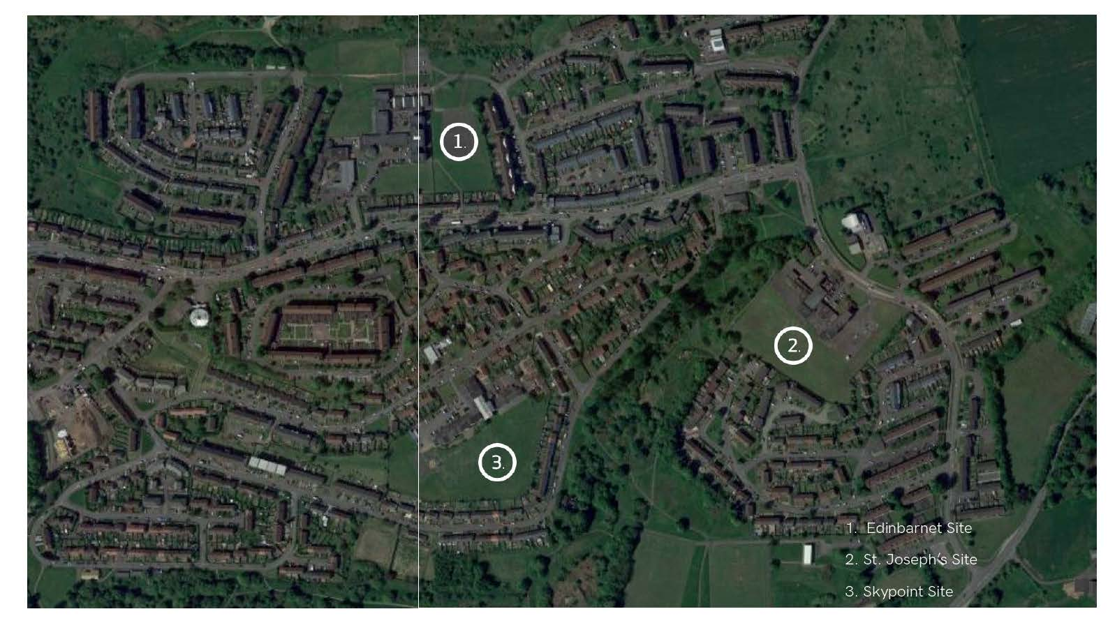 Image of the proposed sites for Faifley Campus
