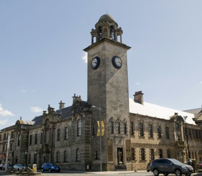 external view of the Clydebank Town Hall