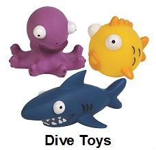 3 animal shaped diving toys