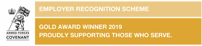 Employee Recognition Scheme: Gold award winners 2019, Proudly supporting those who serve